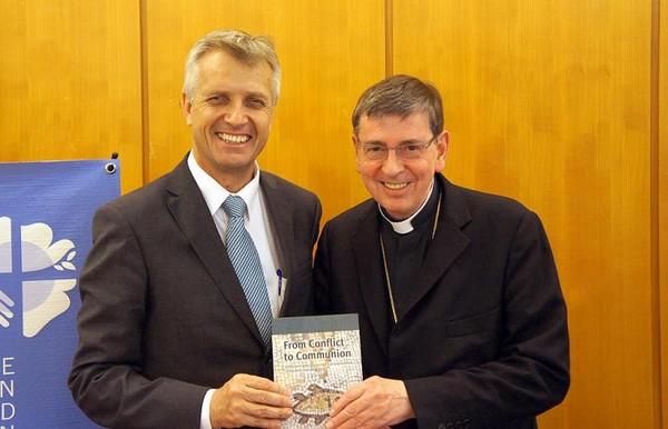Rev. Martin Junge (left) and Cardinal Koch. Photo: LWF/S. Gallay