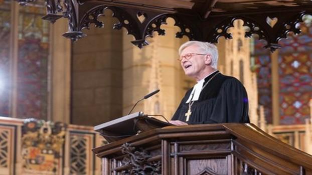 Bishop Heinrich Bedford-Strohm preaching at the 31 October service at Wittenberg's Castle Church. Photo: Gläscher/EKD