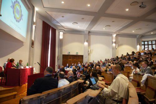 The interactive panel at the John Paul II Center for Interreligious Dialogue